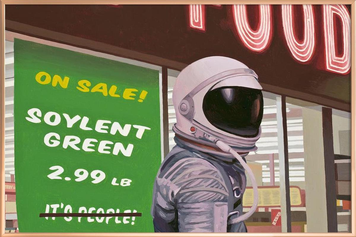 Soylent Green Poster in Aluminium Frame