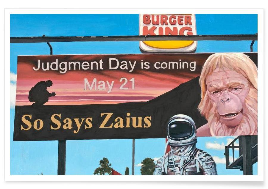 Astronauts, Burgers, So Says Zaius Poster