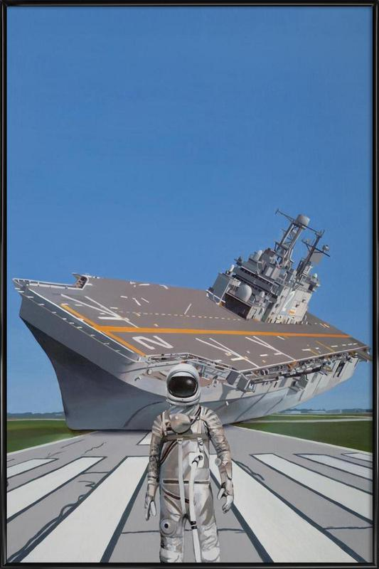 The Runway -Bild mit Kunststoffrahmen
