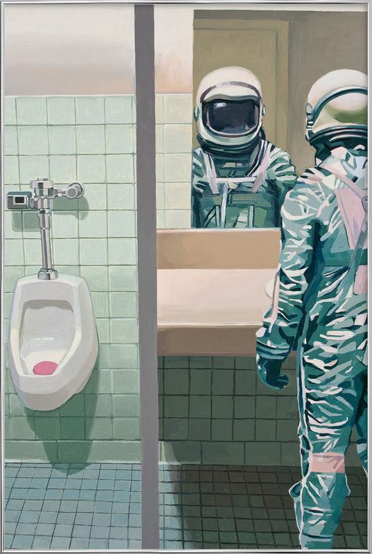 Men's Room Poster in Aluminium Frame