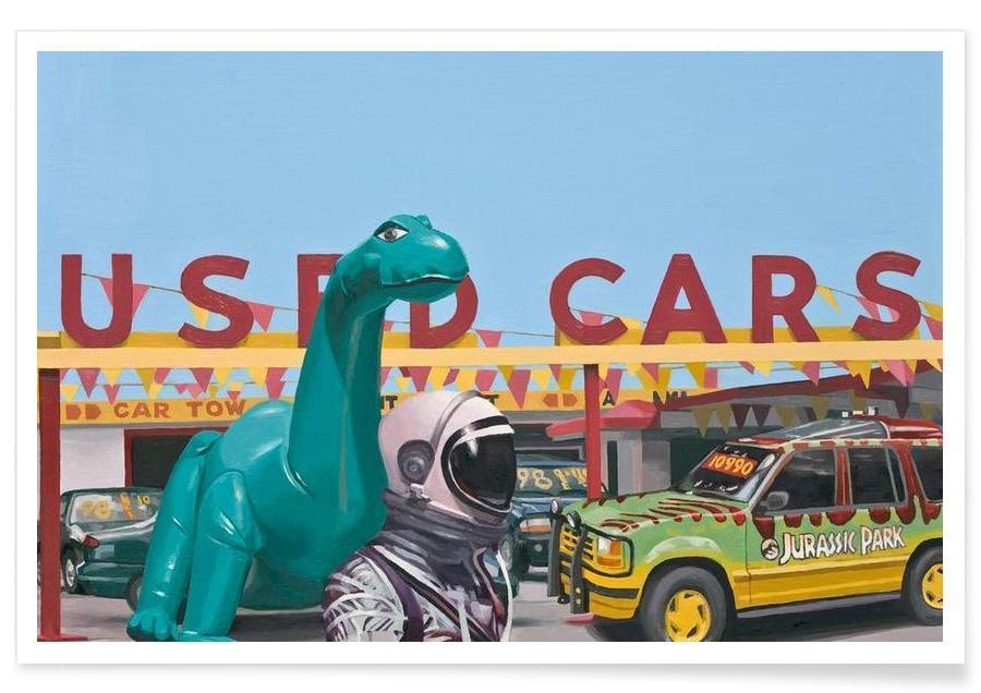 Dinosaurs, Astronauts, Jurassic Parking Lot Poster