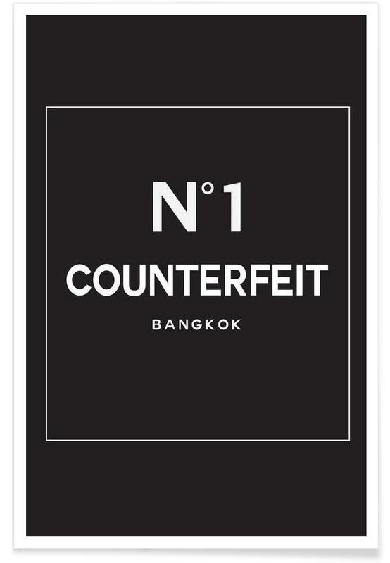 Noir & blanc, Counterfeit affiche
