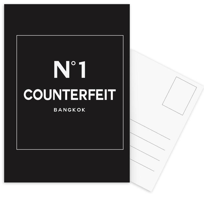 Zwart en wit, Counterfeit ansichtkaartenset