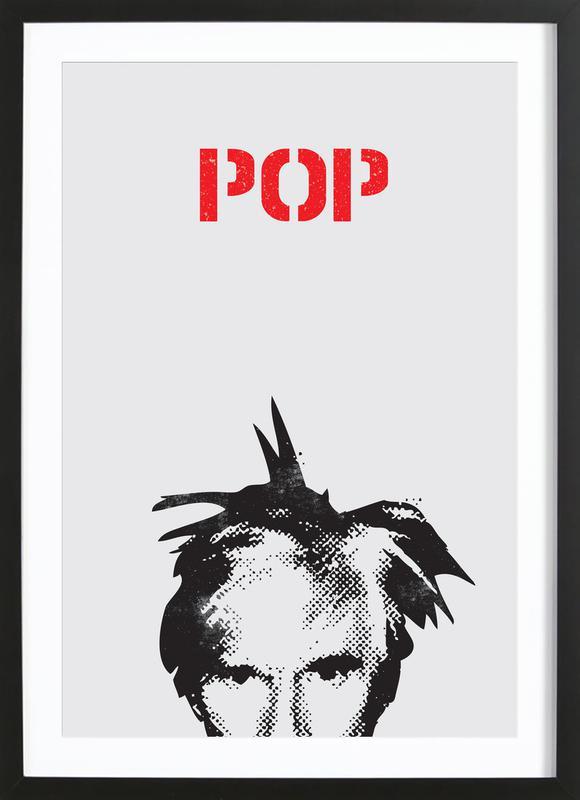 Andy Warhol -Bild mit Holzrahmen