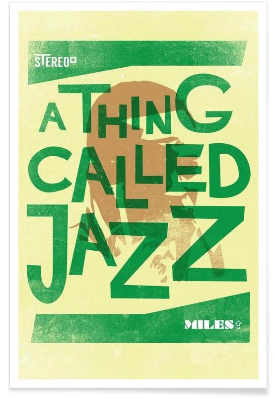 Jazz, Thing called jazz Miles Davis affiche