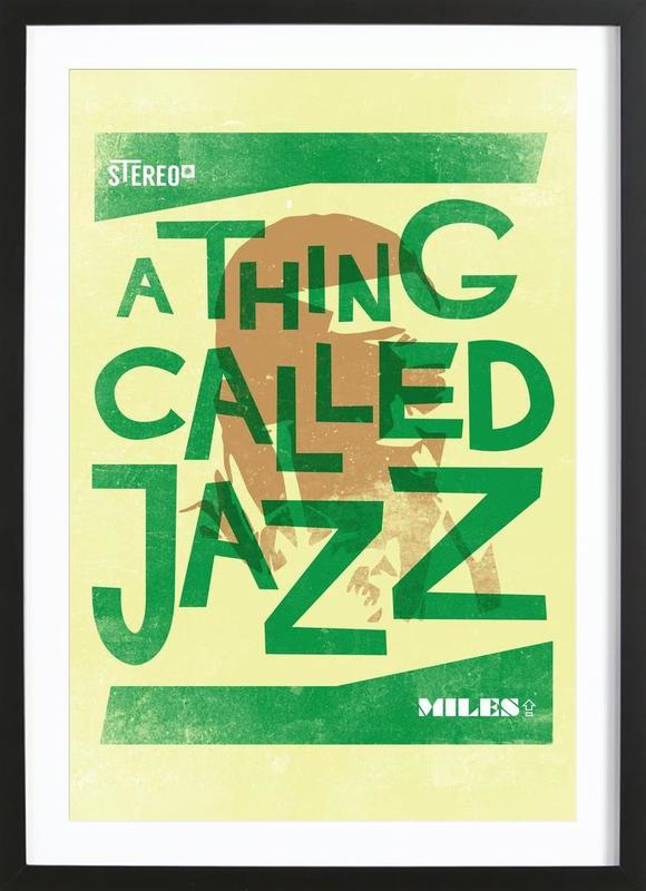 Thing called jazz Miles Davis Framed Print