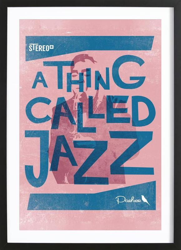 Thing called jazz Charlie Parker Framed Print