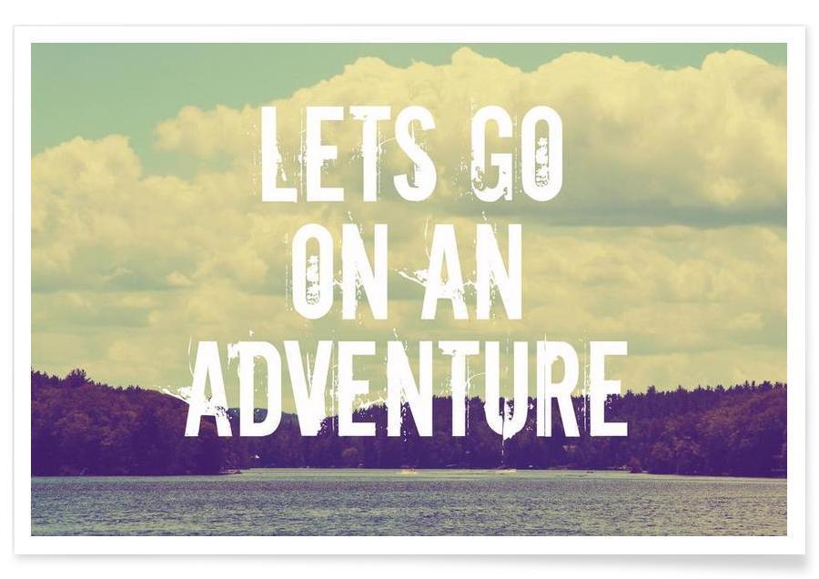 Citations et slogans, Voyages, Lets go on an adventure affiche