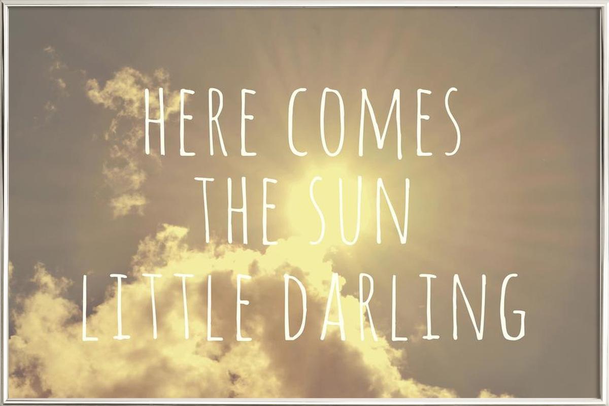 Little Darling -Poster im Alurahmen