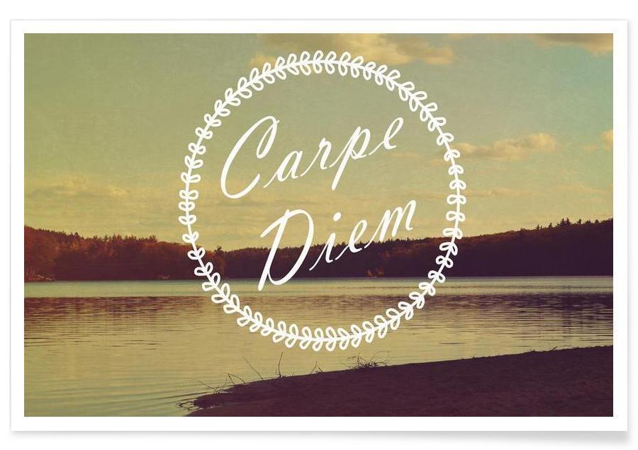 Océans, mers & lacs, Citations et slogans, Motivation, Carpe Diem affiche