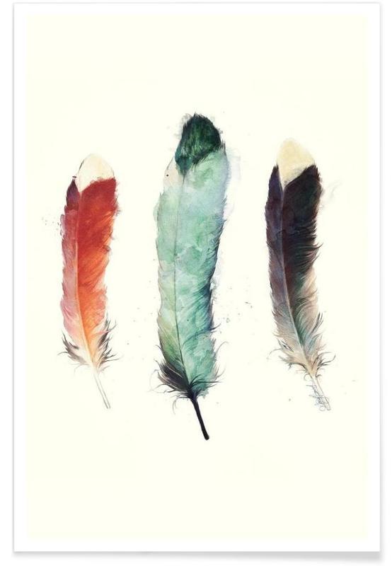 Plumes, Illustration de plumes affiche