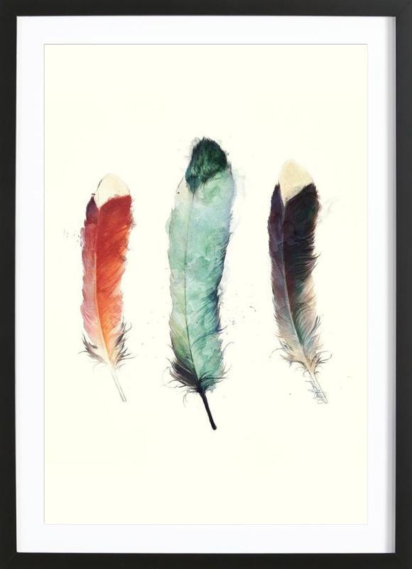 Feathers -Bild mit Holzrahmen