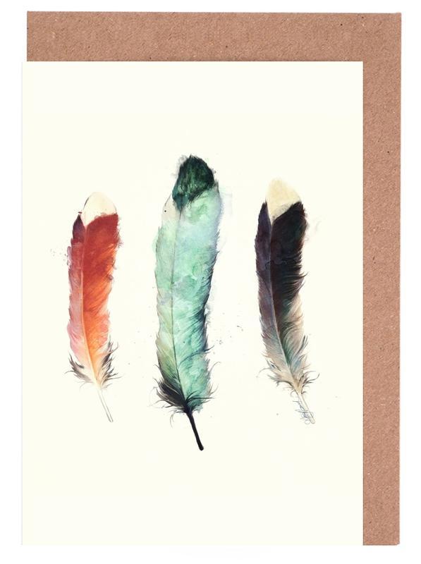 Feathers -Grußkarten-Set