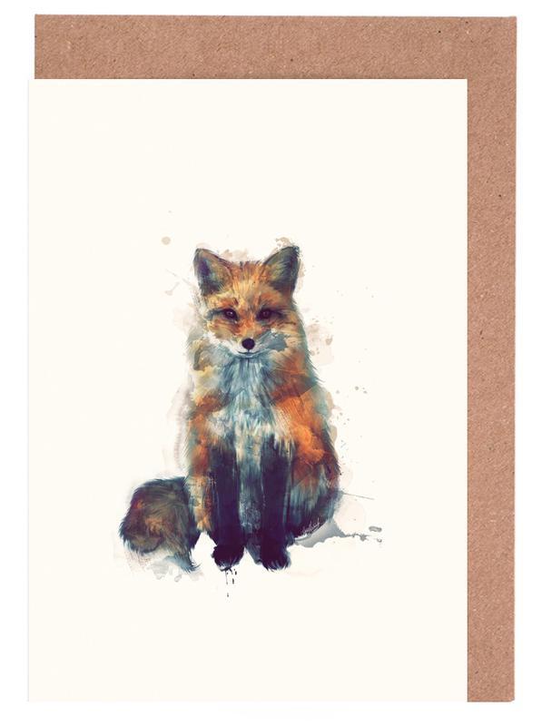 Fox -Grußkarten-Set