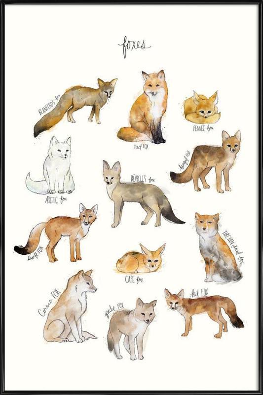 Foxes Framed Poster