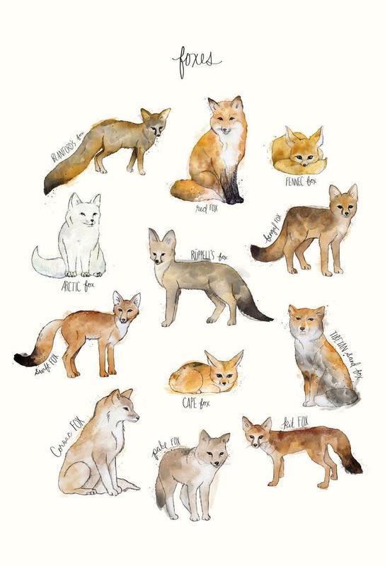 Foxes tableau en verre