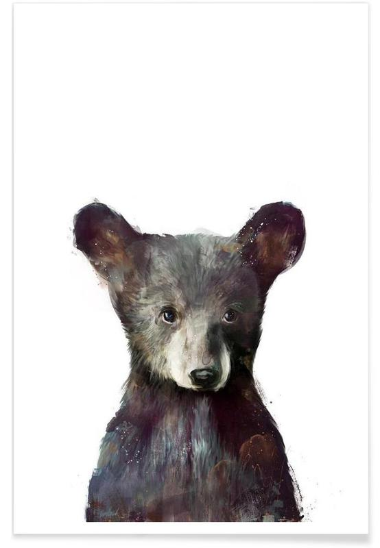 Little Bear Illustration Poster