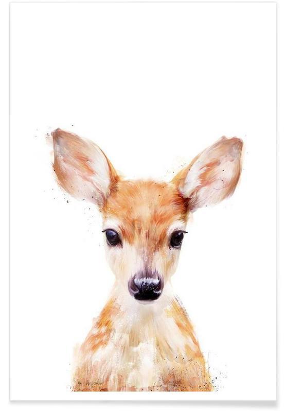 Little Deer Illustration póster