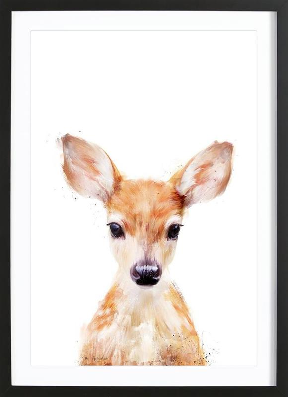 Little Deer affiche sous cadre en bois