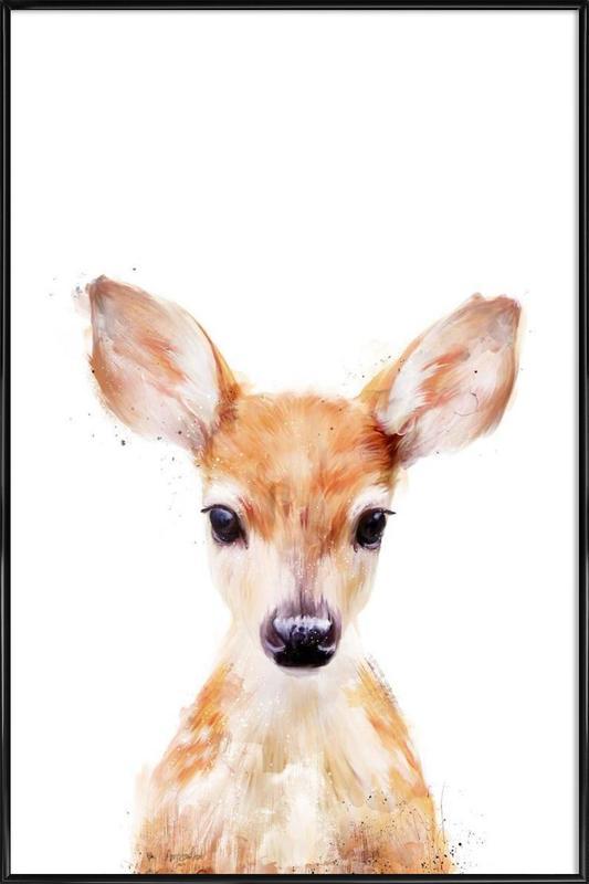 Little Deer -Bild mit Kunststoffrahmen