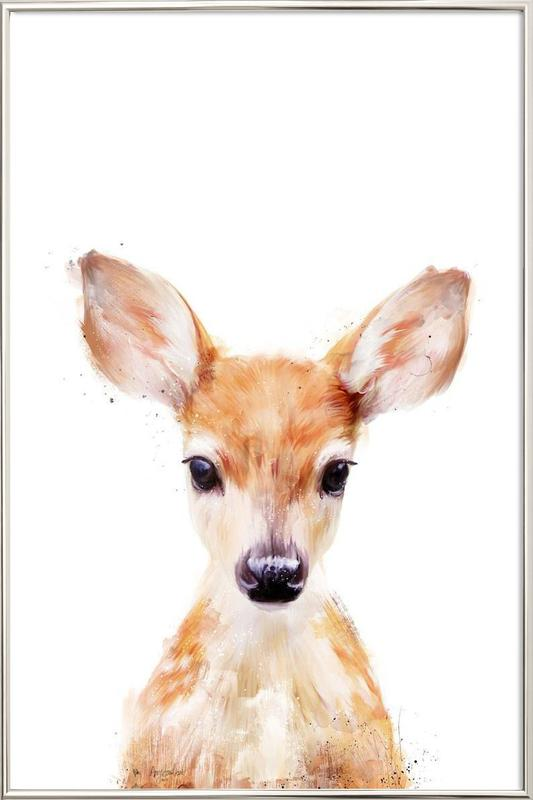 Little Deer Poster in Aluminium Frame
