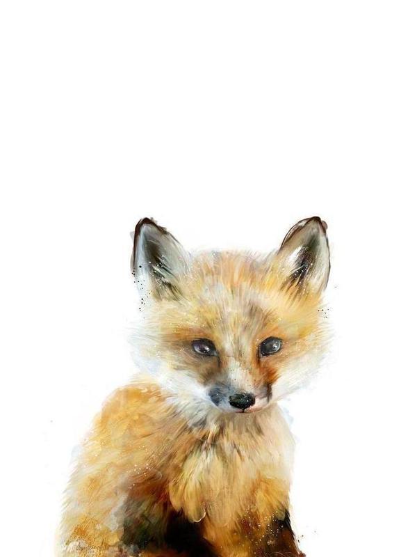 Little Fox Canvastavla