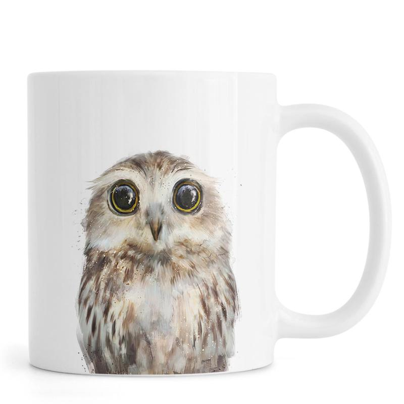 Eulen, Kinderzimmer & Kunst für Kinder, Little Owl -Tasse