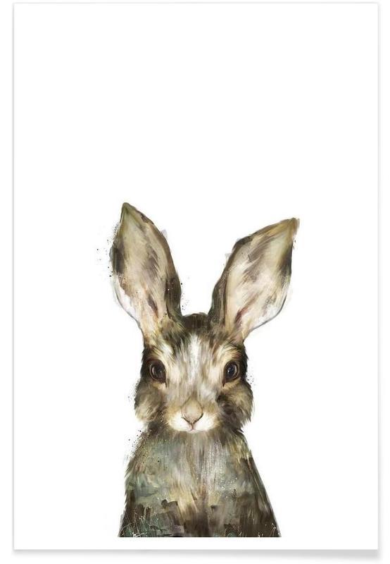 Illustration de petit lapin affiche