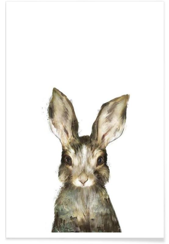 Little Rabbit Illustration Poster