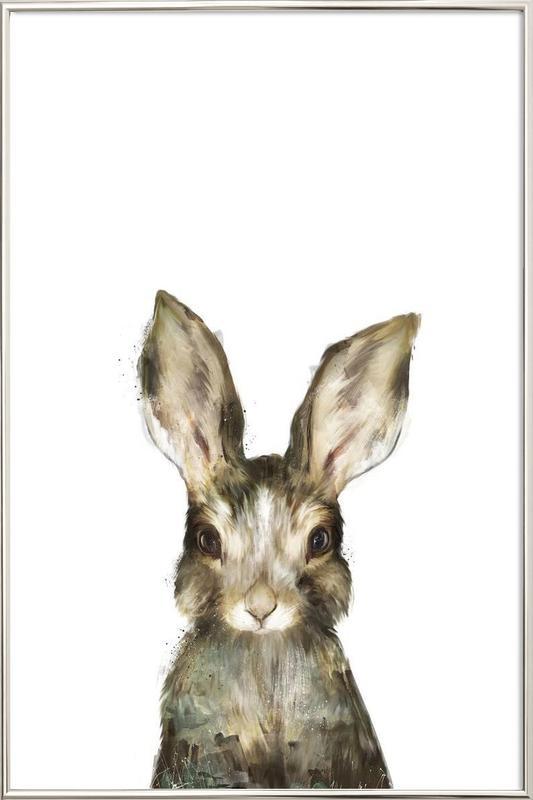 Little Rabbit Poster in Aluminium Frame