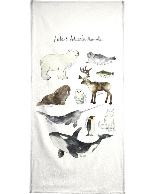 Arctic and Antarctic Animals -Handtuch