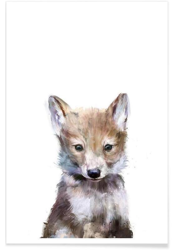 Illustration de petit Loup affiche