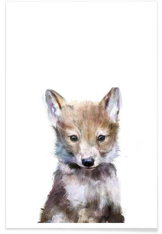 Little Wolf Illustration Poster
