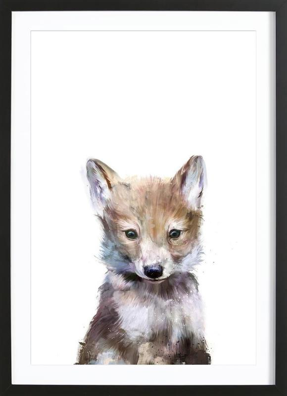 Little Wolf affiche sous cadre en bois