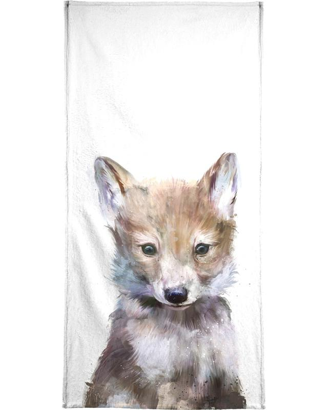 Kinderzimmer & Kunst für Kinder, Wölfe, Little Wolf -Handtuch