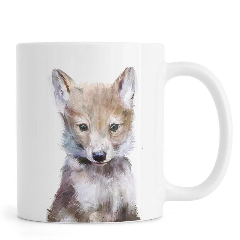 Kinderzimmer & Kunst für Kinder, Wölfe, Little Wolf -Tasse