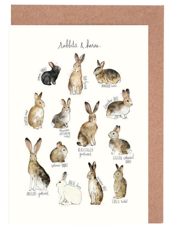 Rabbits and Hares cartes de vœux