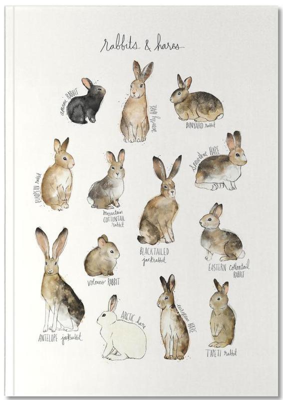 Konijnen, Kunst voor kinderen, Rabbits and Hares Notebook