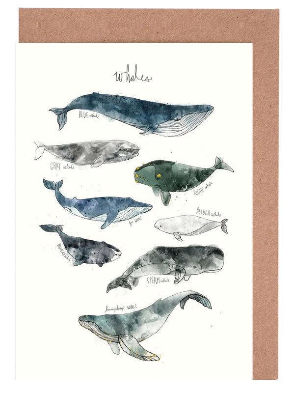 Whales -Grußkarten-Set