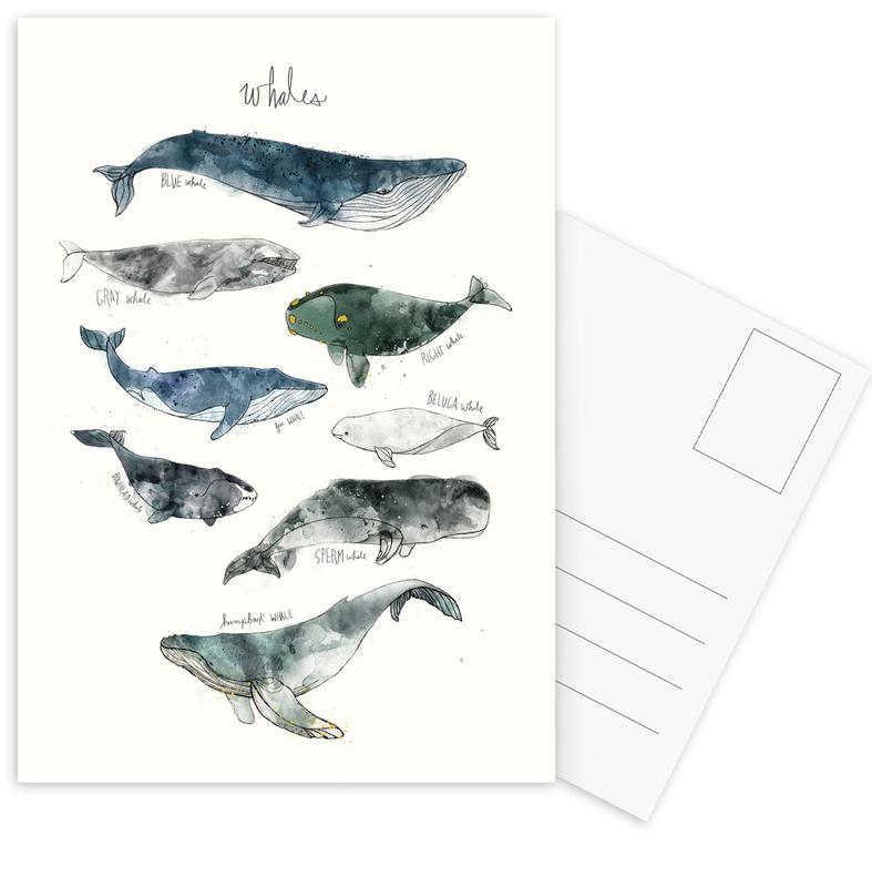 Whales -Postkartenset