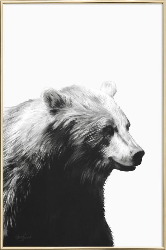 Calm Black and White affiche sous cadre en aluminium
