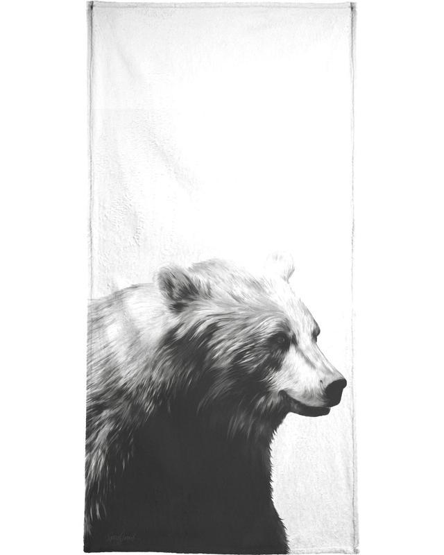 Beren, Zwart en wit, Calm Black and White handdoek