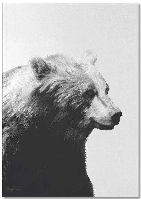 Ours, Noir & blanc, Calm Black and White Notebook