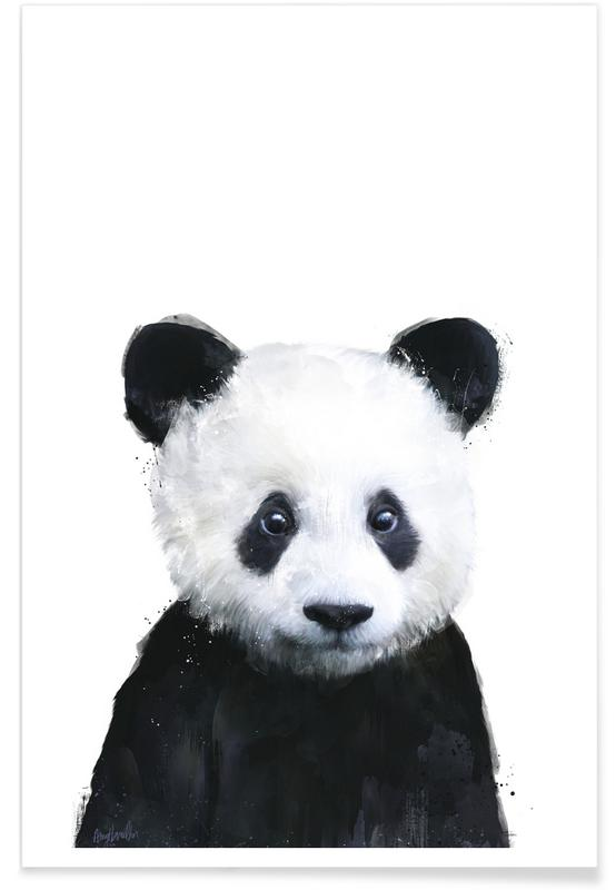 Illustration de petit panda affiche
