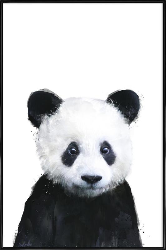 Little Panda -Bild mit Kunststoffrahmen