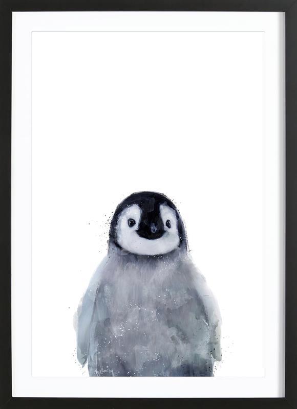 Little Penguin -Bild mit Holzrahmen