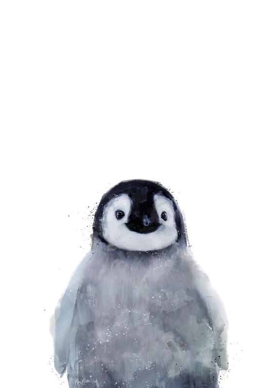 Little Penguin canvas doek