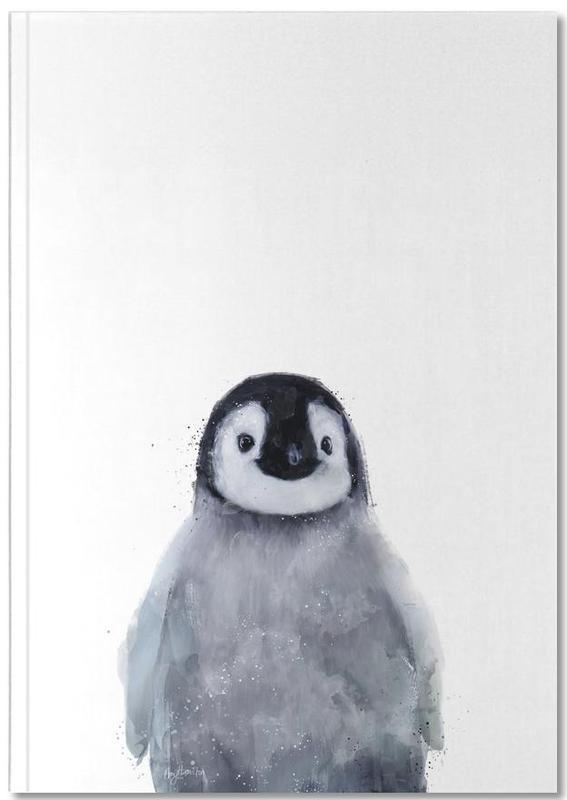 Pinguine, Kinderzimmer & Kunst für Kinder, Schwarz & Weiß, Little Penguin Notebook