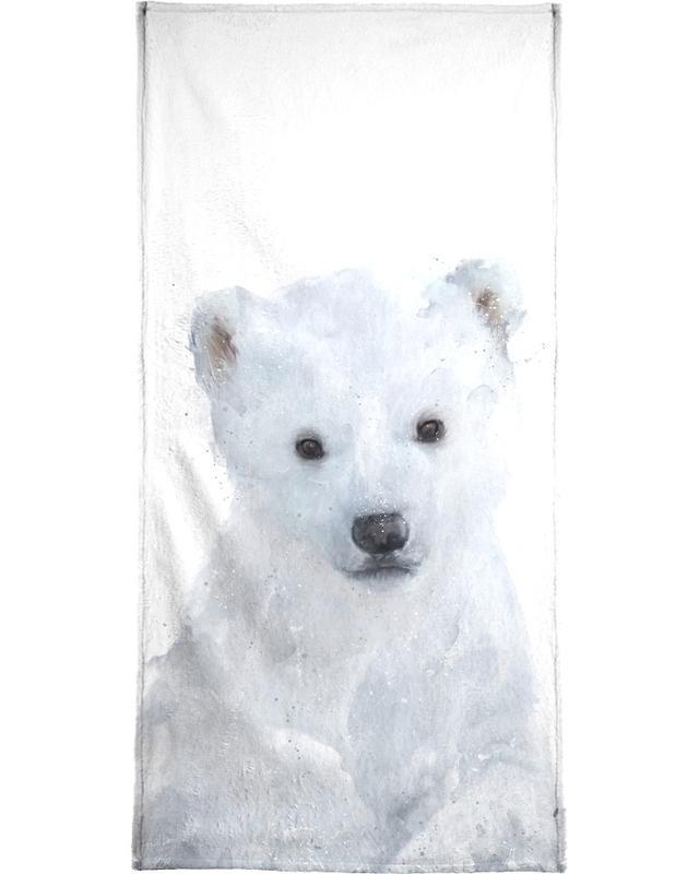 Zwart en wit, Beren, Kunst voor kinderen, Little Polar Bear handdoek