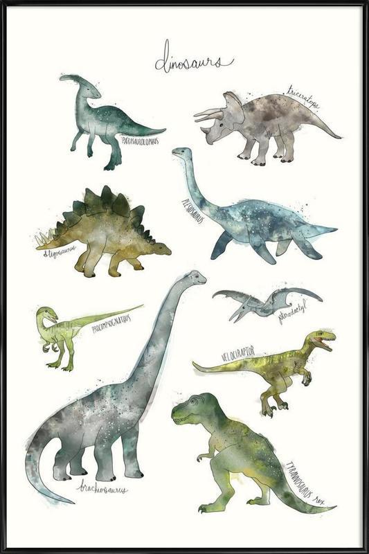 Dinosaurs affiche encadrée